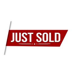 Just sold banner design vector