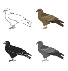 kite icon in cartoon style isolated on white vector image
