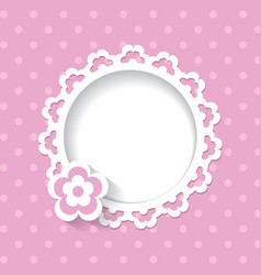 Lacy frame on the pink background vector