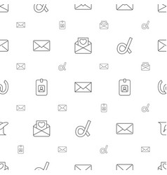 Letter icons pattern seamless white background vector