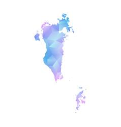 map of bahrain polygon vector image