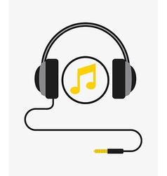 Music headset vector