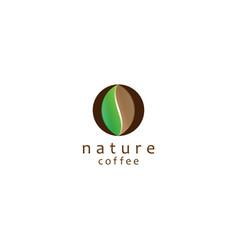 Nature coffee logo design vector
