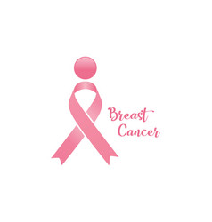 october breast cancer emblem sign for awareness mo vector image