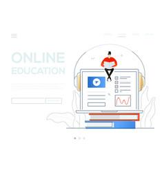 online education - modern colorful flat design vector image