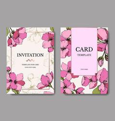 Pink apple blossom floral botanical flower vector