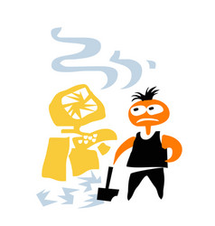rage angry office worker near broken computer vector image