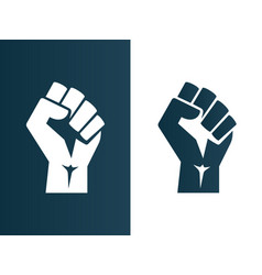 raised fist logo icon poster - isolated vector image