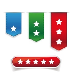 Rating stars set vector image