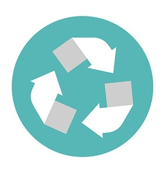 Recycling center icon Flat style icon Circle vector image