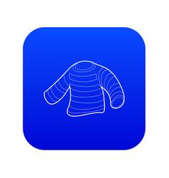 Seaman clothes icon blue vector