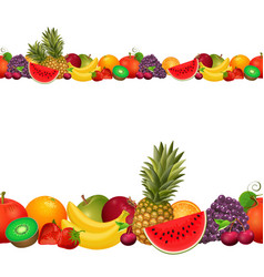 seamless border of fruit vector image