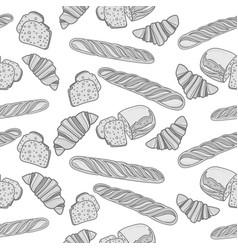 seamlessly bakery monochrome pattern vector image