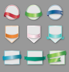 set banners with ribbon vector image