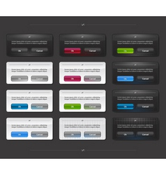 set of colored panels vector image