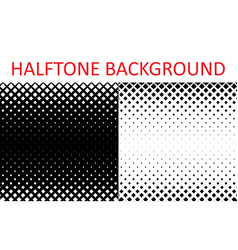 set of monochrome halftone backgrounds from small vector image