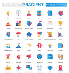 Set trendy flat gradient business vector