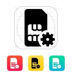 SIM card setting icon vector image