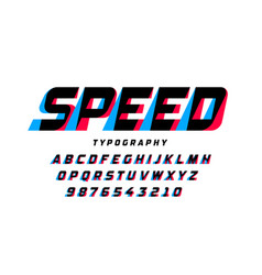 speed style font vector image