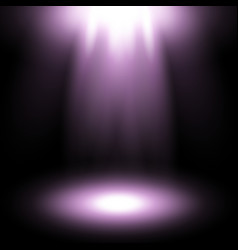 Spotlight purple color vector