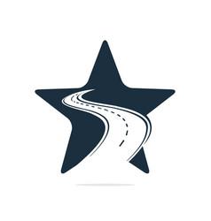 Star road logo design template vector