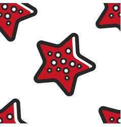 starfish underwater creature seamless pattern vector image