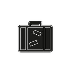 tourist bag - travel icon - luggage icon vector image