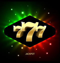 Triple sevens casino jackpot banner lucky numbers vector