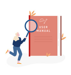 User manual guide book or technical instruction vector