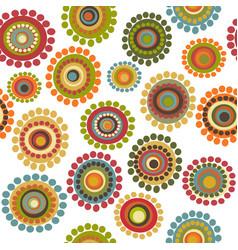 vintage doodle flowers seamless pattern vector image