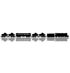 vintage military steam train vector image