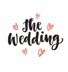 wedding day invitations lettering vector image