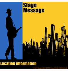 Big City Blues vector image