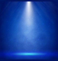 blue stage illumination with spotlights vector image