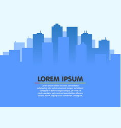 city skyline urban city landscape flat style vector image vector image