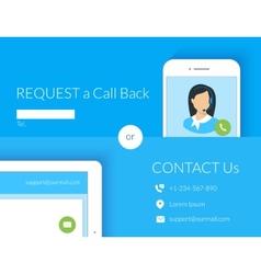 Contact us webform vector image