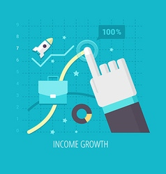 Income Growth vector image vector image