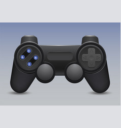 retro gamepad and joystick icon on blue background vector image