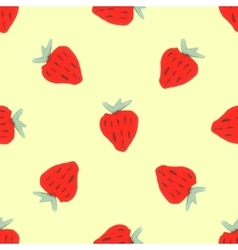 Seamless natural color pattern of red strawberries vector image