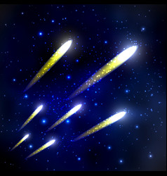 comet in the starry sky vector image