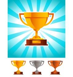 Gold Winner Cup Trophy vector image vector image