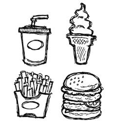 scribble series - junkfood vector image