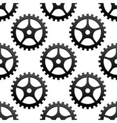 Seamless pattern of industrial gears or cog wheels vector image vector image