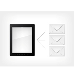 set of tablet pc vector image