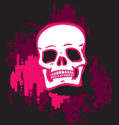 skull pink vector image vector image