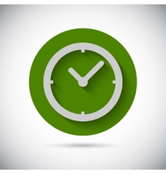 Clock watch flat icon vector image vector image