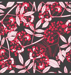 creeper berries seamless pattern vector image