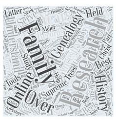 genealogy online Word Cloud Concept vector image vector image