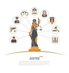 Lady Justice Concept vector image