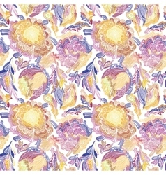 Paradise Floral Motif Texture vector image vector image